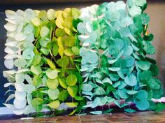 Ombre Garland Display Green by KMHallbergDesign on Etsy