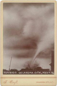 "ca. 1896, ""Tornado. Oklahoma City, May 12 '96"", Thomas Croft  via the Southern Methodist University, U.S. West: Photographs, Manuscripts and Imprints Collection"