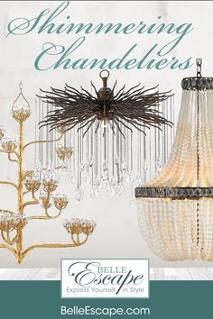 Discover a collection of unique chandeliers at BelleEscape.com. #FrenchChandeliers #shabbychicchandeliers #artisticlighting Farmhouse Style Furniture, Shabby Chic Farmhouse, Shabby Chic Furniture, Furniture Decor, Shabby Chic Chandelier, Beaded Chandelier, Chandeliers, French Vintage, French Country