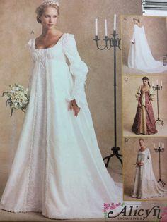 Mittelalterlich, Renaissance, Brautkleid, Kostüm von Alicyn Exclusives - Schnittmuster von McCall 2645 ** ungeschnitten/Size 12.10.14