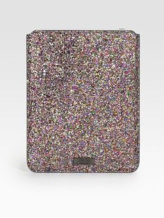 Jimmy Choo Ipad Glitter Case.. I want!