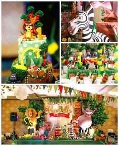 Details from a Madagascar Birthday Party via Kara's Party Ideas KarasPartyIdeas.com (1)