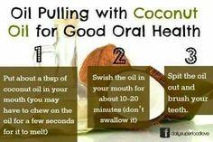 Coconut oil & oral health