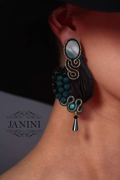Handmade jewelry / handmade earrings / soutache earrings /  soutache jewelry / handmade from georgia / JANINIcollection