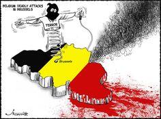 Après les attentats, l'hommage des dessinateurs à Bruxelles