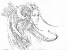 Dessins | Site officiel de Sandrine Gestin: peintre de la féerie et de l'imaginaire