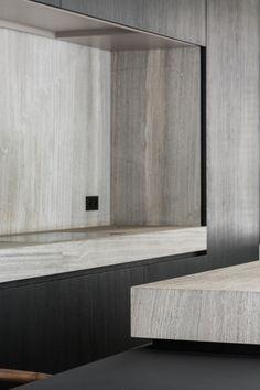Aalst-EE - Projects -  dejaeger interieurarchitecten Hidden Kitchen, Kitchen Pantry, Kitchen Dining, Minimal Kitchen, Piece A Vivre, Interior Photography, Living Room Bedroom, Interior Design Kitchen, Plank