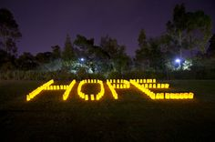 Newcastle/Lake Macquarie Relay For Life 2013 Hope sign