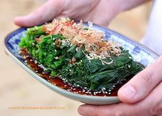 Stir Fry Spinach, Fried Spinach, Asian Recipes, Real Food Recipes, Cooking Recipes, Ethnic Recipes, Asian Foods, Japanese Street Food, Asian Food Recipes