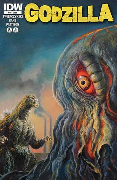 Godzilla vs. The Smog Monster comic http://horrorpedia.com/2012/07/25/godzilla-vs-hedorah/