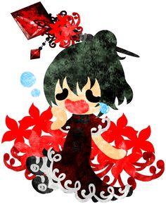 秋のフリーのイラスト素材可愛い女の子とヒガンバナ  Free Illustration of autumn A cute little girl and the spider lily   http://ift.tt/2bEfA38
