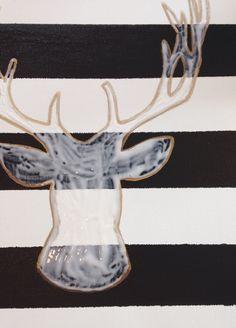 DIY Glitter Head Deer