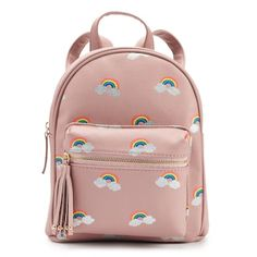 Carry your essentials in this cute glitter rainbow mini backpack. Cool Backpacks For Girls, Girly Backpacks, Cute Mini Backpacks, Kids Backpacks, Stylish Backpacks, Purse For Teens, Backpack For Teens, Mini Backpack Purse, Small Backpack