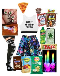 """👀❤🍖🌮🌭🍕🍔🍟🎂🍩🍰🍫"" by karissa777127 ❤ liked on Polyvore featuring Minga"