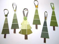 Paint strip christmas trees