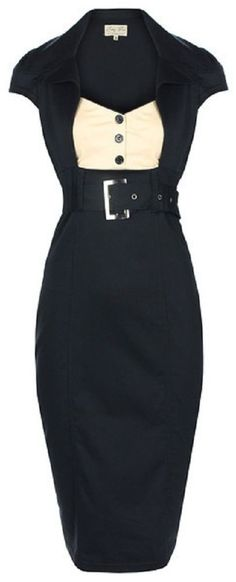 Nuevo Estilo Chic Vintage Década de 1950 secretario Negro Vestido Lápiz Meneo trabajo/oficina   Ropa, calzado y accesorios, Ropa para mujer, Vestidos   eBay!