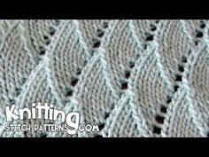 A video on how to knit the Overlapping Waves stitch.