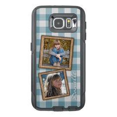 Custom French Country Farmhouse Checks Pattern OtterBox Samsung Galaxy S6 Case - photo gifts cyo photos personalize
