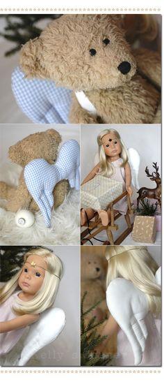 ★Les Tissus Colbert: Entzückende Himmelsboten- engelsfluegel fuer teddy und Puppe– ein DIY von Kelly