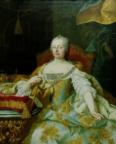 Marie's Mother ~ the most powerful woman of her time ~ A Portrait Of Maria Theresa, Archduchess Of Austria, Empress Of The Holy Roman Empire, Queen Of Hungary And Bohemia Maria Theresia, Austrian Empire, Baroque Painting, Rococo Fashion, Holy Roman Empire, 18th Century Fashion, Roman History, Glamour, Women In History