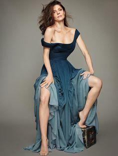 Chiara Mastroianni in ELIE SAAB Fall 2014 Haute Couture for Madame Figaro \