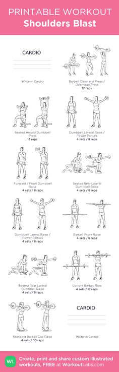 Shoulders Blast: my visual workout created at WorkoutLabs.com • Click through to customize and download as a FREE PDF! #customworkout