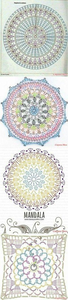 Crochet blanket carpet designs..<3 Deniz <3 Motivo circular crochet.  Flor.  Posavasos
