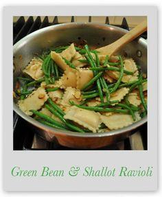 Super easy! Green Bean and Shallot Ravioli | Marin Mama Cooks