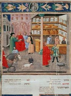 An apothecary in an old manuscript