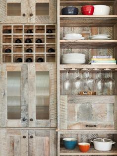 Recycled-Pallet-Wood-Kitchen-Cabinets