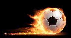 Soccer ball on fire vector art illustration Free Vector Graphics, Vector Art, Wallpaper Downloads, Hd Wallpaper, Notre Dame Wallpaper, Fire Vector, Soccer Banner, High Resolution Wallpapers, Dark Backgrounds