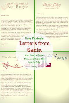 Santa Letters  Free Printable Letters To Santa  Svetl A Oi