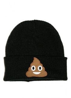 Extreme Largeness Emoji Poop Patch Beanie