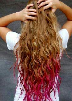 Pink ombre hair dye