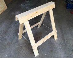 Folding Plywood Sawhorses