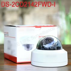 110.00$  Watch now - http://ali1vr.worldwells.pw/go.php?t=32658095966 - In stock Free shipping English version DS-2CD2142FWD-I 4MP mini dome network cctv camera, P2P 1080p IP camera POE 120dB WDR