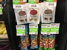 Small packets of pumpkin seeds and nuts are a tasty addition to healthy checkout. Made Goods, Dietitian, Sausage, Almond, Seeds, Veggies, Pumpkin, Tasty, Fruit