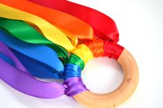 Waldorf Hand Kite Rainbow by BrightLifeToys on Etsy Fun Crafts, Crafts For Kids, Arts And Crafts, Craft Activities, Toddler Activities, Toddler Play, Craft Day, Creative Play, Creative Crafts