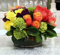 Send the Mixed Paradise bouquet of flowers from Apropos Floral & Event Design in Beverly Hills, CA. Local fresh flower delivery directly from the florist and never in a box!