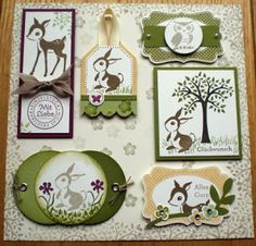 Sonja´s Hobbyblog: Stampin`Up! Card Candy Swap -- deer