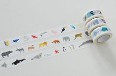 Colte Washi Masking Tape - Animals from Sky, Land & Sea