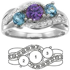 I love mothers rings. I made mine a family ring with Angelos birthstone in the middle and mine and danas on the sides.