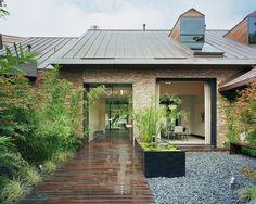 Austin Modern Lake House- Entry Courtyard by Bercy Chen Studio LP, via Flickr