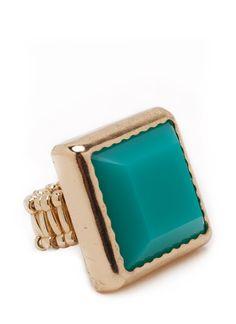 stone square shape ring $11.70