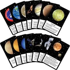 Space Blast Fact Cards - Pack of 14 | Spaceman Party Supplies - Kids Party Shop