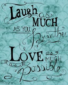 Designs Direct Creative Group Laugh as Much as You Breath Wrapped Canvas