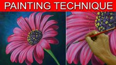 How to Paint a Daisy Flower in Acrylic Full Painting Tutorial by JM Lisondra - YouTube