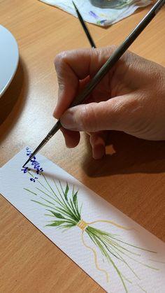 Watercolor Painting Tutorials, Simple Watercolor Paintings, Easy Flower Painting, Watercolor Flowers Tutorial, Watercolor Art Lessons, Watercolor Lettering, Watercolor Techniques, Easy Paintings, Watercolor Print