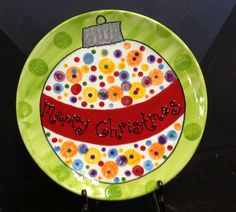 Paint your own pottery: MORE DOTS!