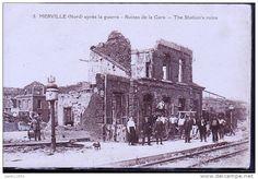 Merville - Ruines de la gare après la guerre